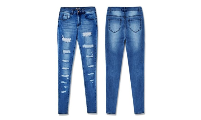 Women's Low Rise Stitched Casual Jeans