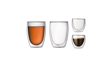 Double Wall Drinking Glasses (250ml & 450ml) 6554bb0a-ee28-4758-b8f9-a2471a619c62
