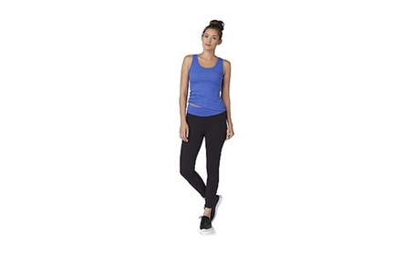 Everlast Women's Tank Top, Yoga Pants Small, Black/Blue c7068408-bd37-463e-b308-af4abc73b2de