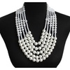 Handmade Multilayer Imitation Pearl Necklace for Women