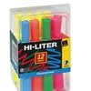 Avery 98034 Hi-Liter Fluorescent Highlighter Chisel Tip 12-Set