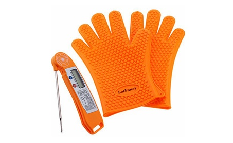 Heat Resistant Cooking Oven BBQ Grilling Gloves-Food Meat Thermometer aa27246c-97f3-4671-b521-dad4419d4f7c