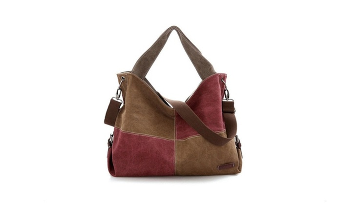 New Lady Canvas Patchwork Handbag Women Messsenger Bag