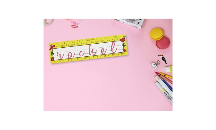 Desk Name Tags - Pack of 72 Name Plates, Alphabet Design