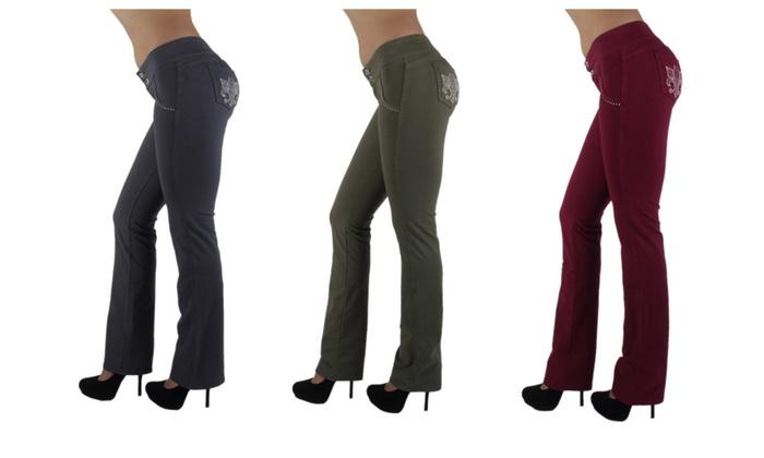 Brazilian Style Butt Lift, Levanta Cola, Fashion Stretch, Boot Leg