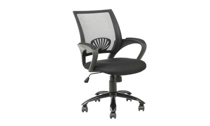 ergonomic mesh computer office desk task chair w metal base groupon