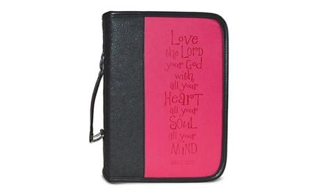 Divinity Boutique 86897 Bible Cover - Heat Stamp Love - Black & Pink 6c063f64-ea0d-404d-8182-0f9ec19be657