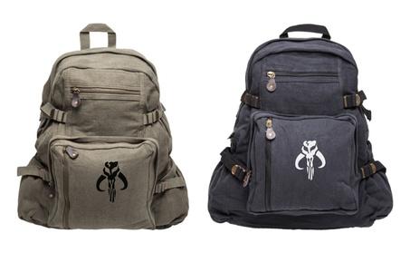 Star Wars Mandalorian Skull Boba Fett Heavyweight Backpack 11a32a58-a8d8-4f9d-a4f0-c1e4f2b6a68b
