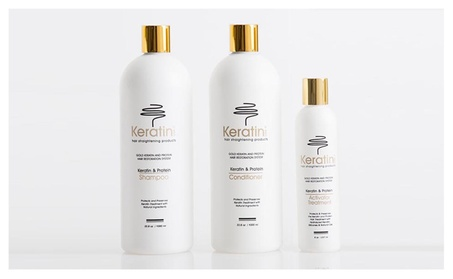 Keratin Protein Hair-Straightening Activator Treatment 3-Piece Set 7b046a40-866d-4eea-8a58-52ed4362bbed