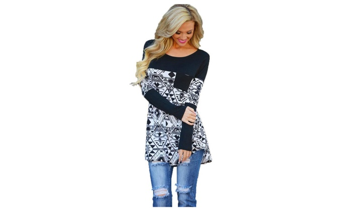 Women's Crew Neck Pullover Fashion Printed T-Shirt
