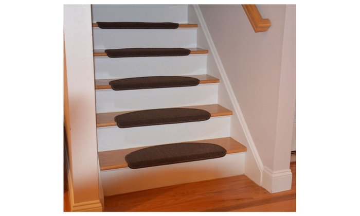 bullnose stair treads indoor with skid slip resistant strip 13 pcs set - Bullnose Stair Tread
