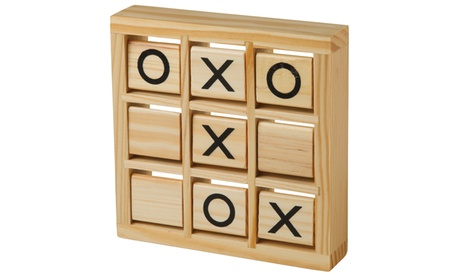 Wooden Tic Tac Toe Classic Travel Game becf3b08-2e6a-4346-b0d0-8c214f11b2e1