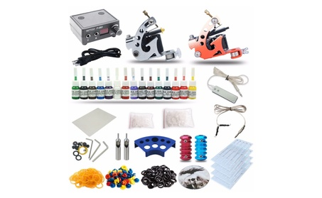Complete Tattoo Kit 2 machine Gun 15 Color Inks e26b477e-fe17-4fca-b369-99bfc0678d21