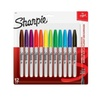 Sharpie 30075PP Permanent Markers, Fine Point, Assorted Colors, 12 Ct