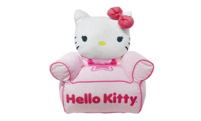 Hello Kitty Figural Bean Bag Chair Groupon