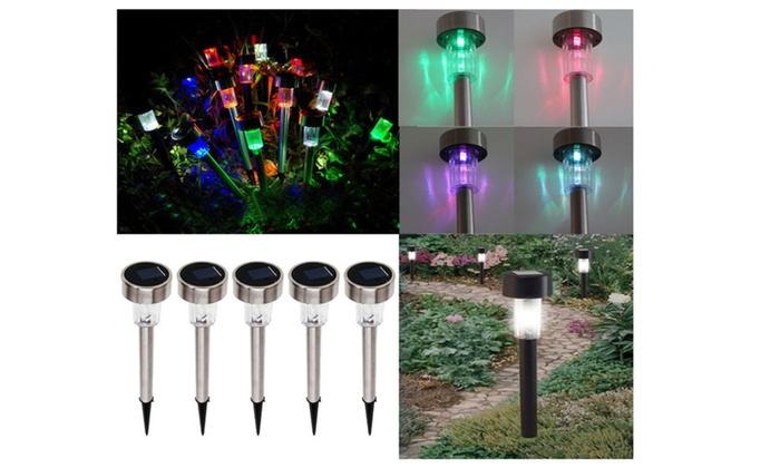 Solar Power LED Path Lighting Outdoor Garden Lawn Lamp Colorful