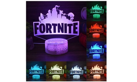 3D Fortnite Lamp LED Night Light 7 Colors In One