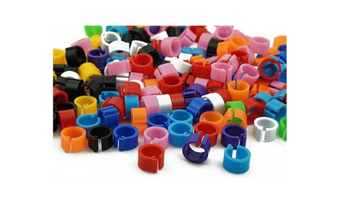 Bird Rings, Leg Bands for Pigeon/Parrot/Finch/Canary (100 Pieces)