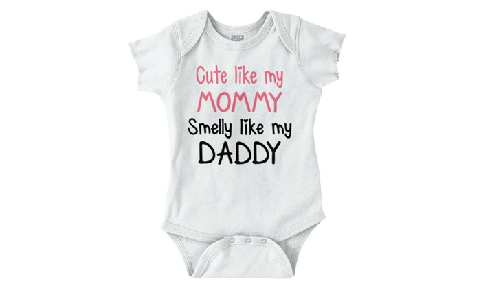 258a75a0957d Cute Like Mommy Smell Daddy Shirt Baby Clothes Newborn Funny Romper ...