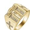 Holy Cross Signet Cub Zirconia Vintage Ring