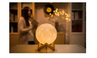 Groupon Realistic Touch Sensitive Printed Full Moon Lamp