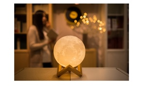 Realistic Touch-Sensitive 3D-Printed Full Moon Lamp