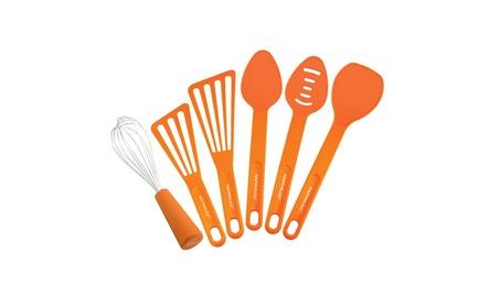 Rachael Ray 55737 Tools and Gadgets 6-Piece Kitchen Tool Set, Orange 28c49a70-da57-4fc3-8b48-69c76b3ca618
