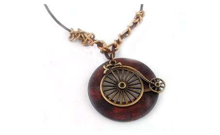 Long Rope Chain Wooden Alloy Pendant Necklace 66834d87-f7de-4e1c-8535-ef5c94f0ab39