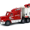 King Power Racing Trailer 1:32 Friction Toy Truck (Colors May Vary)