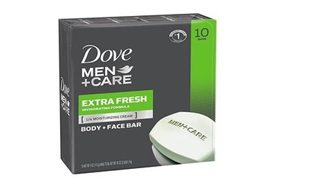 Dove Men plus Care Body and Face Bar, Extra Fresh, 4 oz, 10 Bar