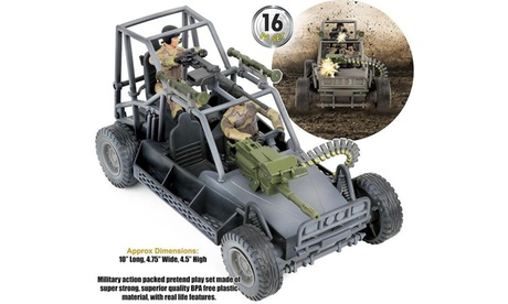 Click N Play Military Desert Patrol Vehicle Buggy Jeep 16 Piece Play Set 2865f777-3e81-4046-ac52-c1ed67256431
