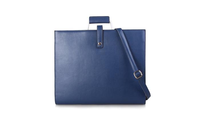 Unisex Large Capacity Leather Briefcase Bag