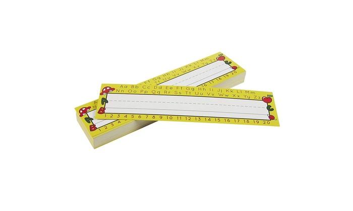 Desk Name Tags - Pack of 72 Name Plates, Alphabet Design