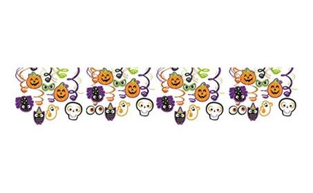 Halloween Creepy Creatures Swirl Ceiling Hanging Decoration, Foil 30Pc d10391b2-a77c-42ec-a4d0-b8731177965d