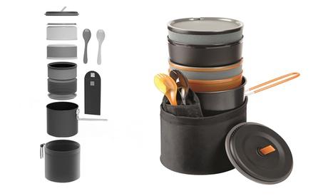 10 Piece Dishwasher Safe Easy Storing Camp Cook Set