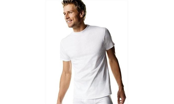 4368614d Hanes 2135X Big Man Crewneck T-Shirt 3-Pack 3XL White One Size Multi-color