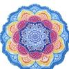 New Soft Round Large Lotus Flower Yoga/Beach Tassel Blanket and Towel