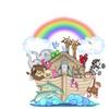 Noahs Ark Wall Mural Decals Bible Story Baby Nursery Safari Animals