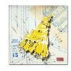 Roderick Stevens 'Shoulder Dress Yellow n White' Canvas Art