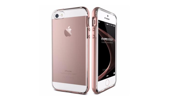 official photos c082e b204c VRS Design Crystal Bumper Case for iPhone 5/5s/SE - Rose Gold   Groupon