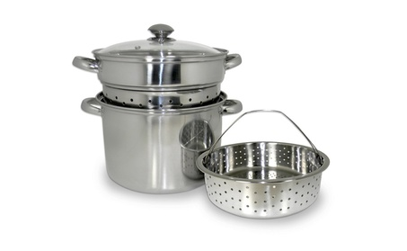 Cookpro 512 8 qt. Stainless Steel Multi Cooker Silver - 4 Piece 56d67e6f-f9be-4aa1-b814-9b1417e0ca31