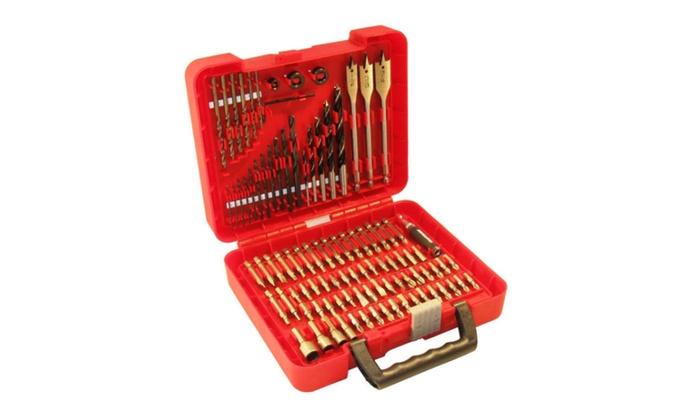 Craftsman 100 Pc Accessory Set Drill Bit Driver Screw Tools Kit Drills