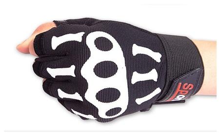 Mens Fingerless Summer Skeleton Workout Riding Gloves Anti Slip Moto bffed73b-49ef-4301-b615-919d3b318db5
