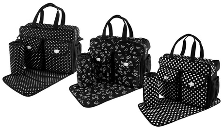 Diaper Bag, Nappy Tote Bag - Includes Large Handbag, Bottle Bag and Diaper Mat cdb9bd16-1a79-4609-9389-550991fe4bd6