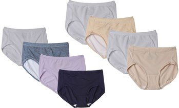 8 Pack Hanes Women's Ultimate Cool Comfort Low Rise Brief Panties, Assorted