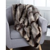 Lavish Home Luxury Long Haired Striped Faux Fur Throw