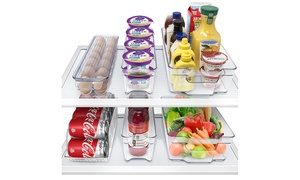 Sorbus Fridge and Freezer Organizer Bins Set (6-Piece)