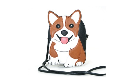 Sleepyville Critters Corgi Puppy Crossbody Purse (Goods Women's Fashion Accessories Handbags Cross-Body) photo