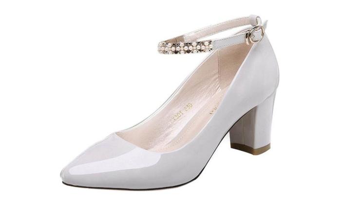 Women's PU Casual Solid High Heels