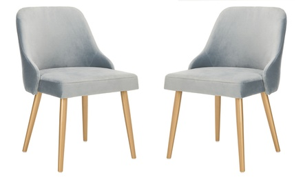 Safavieh Lulu Upholstered Dining Chairs (Set-of-2)